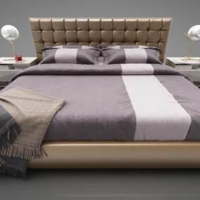 现代风格床具3D模型【ID:850530798】