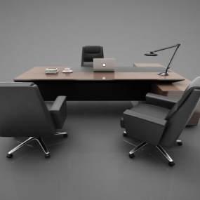 现代风格办公桌3D模型【ID:947456184】
