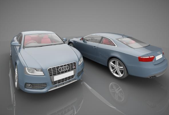 現代風格小汽車3D模型【ID:441856778】