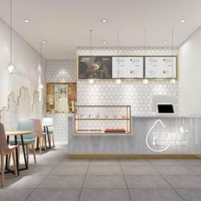 北欧奶茶店3D模型【ID:644210400】
