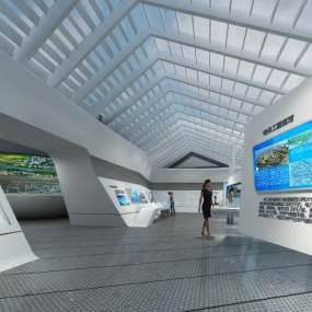 现代科技展厅3D模型【ID:947340759】