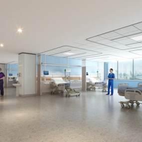 現代醫院3D模型【ID:952532715】