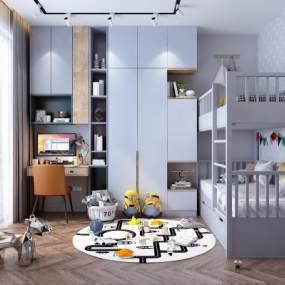 现代儿童房3D模型【ID:533730226】