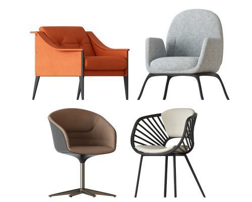 北欧椅子3D模型【ID:742350037】