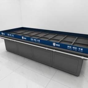 现代超市水产冰台3D模型【ID:335783359】