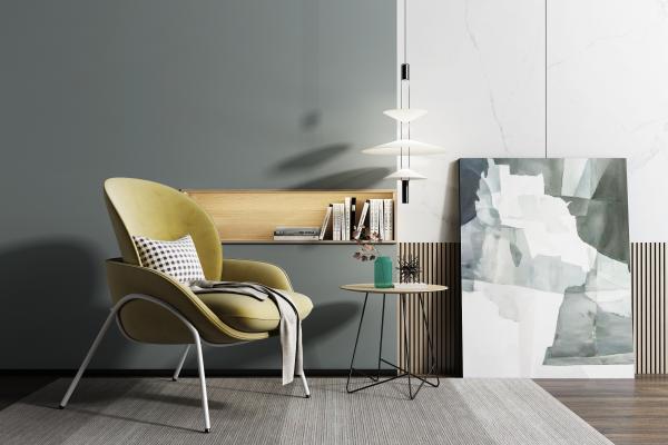 北欧休闲椅3D模型【ID:753217087】