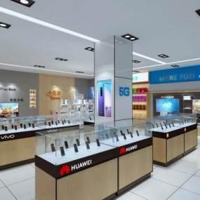 现代手机店营业厅3D模型【ID:153770203】