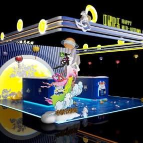 中秋节活动展板3D模型【ID:233502502】