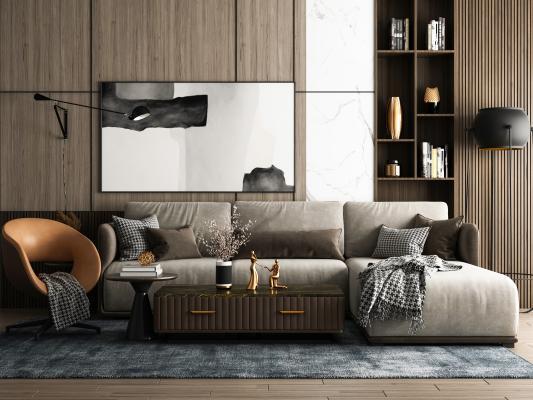 现代多人沙发3D模型【ID:652947737】