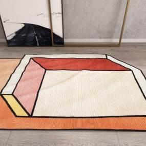 现代地毯3D模型【ID:331991234】