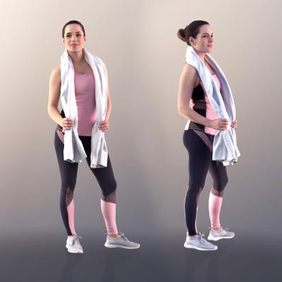 現代運動女性3D模型【ID:345701026】