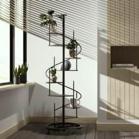 现代植物架3D模型【ID:153968139】