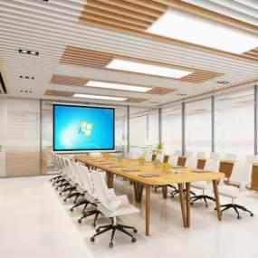 现代会议室3D模型【ID:949232127】