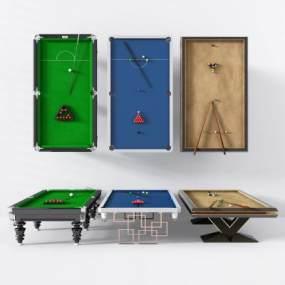 新中式桌球台台球3D模型【ID:430594423】