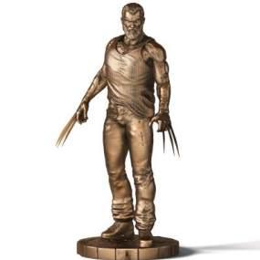 现代X战警金刚狼铜雕塑 3D模型【ID:342182103】