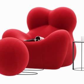 现代懒人沙发椅3D模型【ID:733660064】