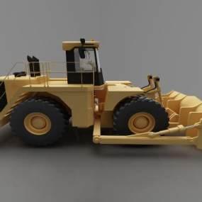 现代风格推土车3D模型【ID:443523685】