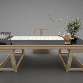 现代风格书桌3D模型【ID:952894118】
