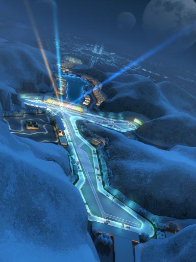 现代F1汽车赛车道3D模型【ID:242330076】