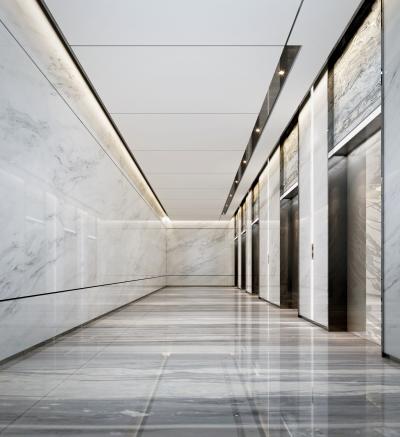 現代辦公樓電梯廳3D模型【ID:944021581】