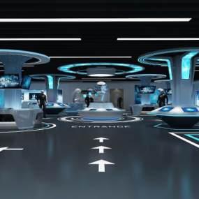 现代智能科技展厅3D模型【ID:953448793】