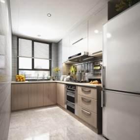 现代厨房3D模型【ID:545631319】