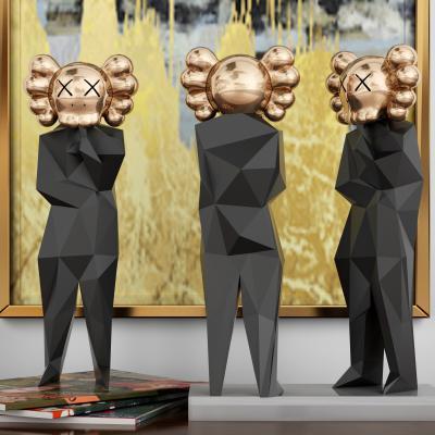 现代金属几何人物雕塑 摆件