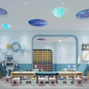 现代风格科学室3D模型【ID:953453635】