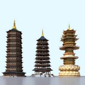 传统中式古建塔楼佛塔365彩票【ID:235613180】