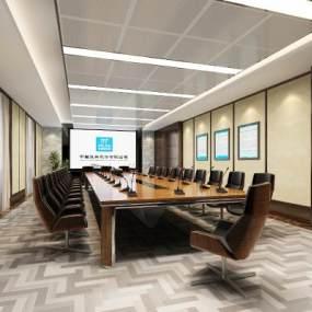 现代会议室3D模型【ID:950603136】
