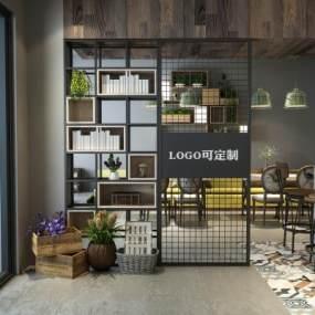 工业风咖啡店3D模型【ID:646339316】