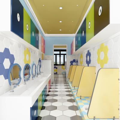 现代幼儿园卫生间3D模型【ID:943127674】