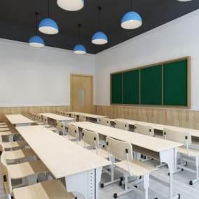 现代培训学校3D模型【ID:147100283】