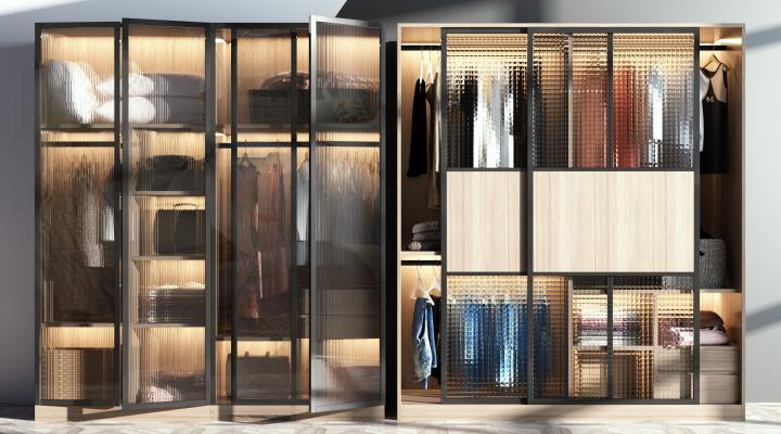 现代衣柜3D模型【ID:149246489】