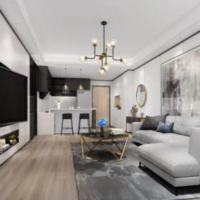 �F代酒店公寓3D模型【ID:743288345】