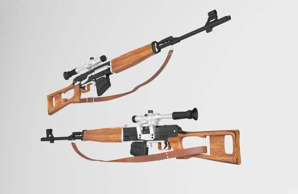现代狙击步枪3D模型【ID:433703291】