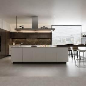 现代厨房3D模型【ID:534786357】