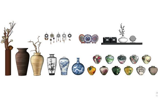 中式花瓶SU模型【ID:952091604】