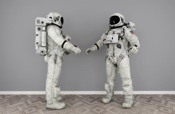 現代宇航員宇航服3D模型【ID:344471031】