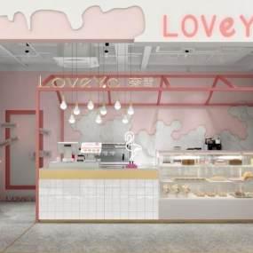 现代休闲饮品店 3D模型【ID:635611426】