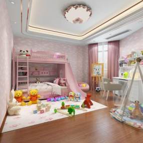 现代儿童房3D模型【ID:532831231】