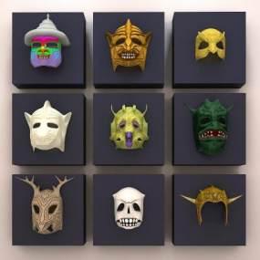 装饰面具 3D模型【ID:240583906】