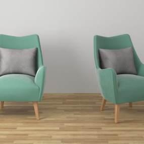 单人沙发 3D模型【ID:642252456】