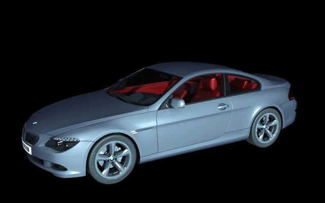 现代银色宝马跑车3D模型【ID:432497744】