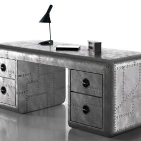 工业风金属班台办公桌3D模型【ID:945683118】