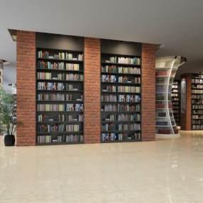 現代圖書館3D模型【ID:945906833】
