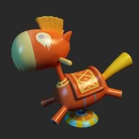 现代儿童木马3D模型【ID:334394484】