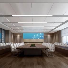 现代会议室3D模型【ID:953212173】