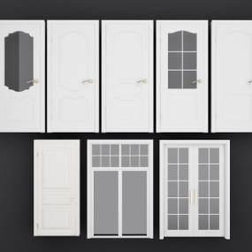 现代房间门组合3D模型【ID:336070105】