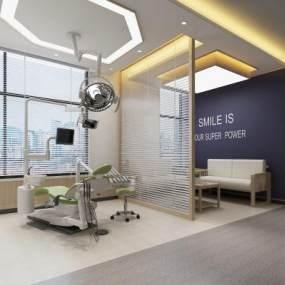 现代牙科医疗诊室 3D模型【ID:940018785】
